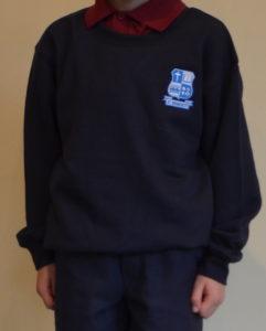 School monogrammed sweatshirt
